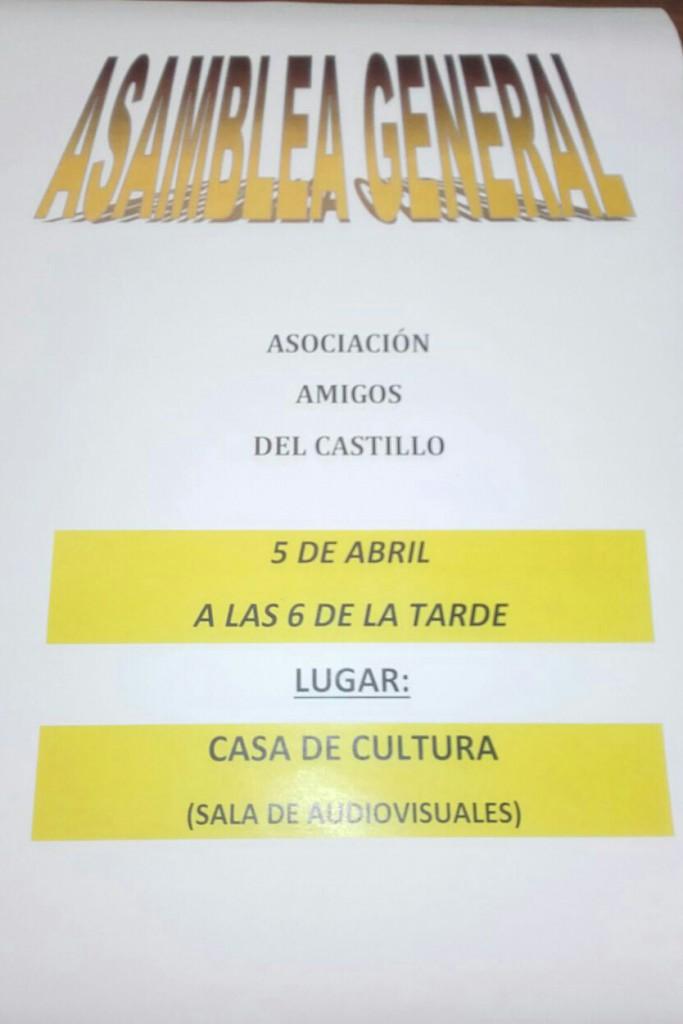 Asamblea General Asociacion Amigos del Castillo
