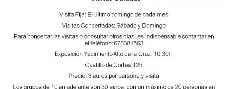Visitas guiadas Castillo y Exposicion Permanente Museo Alto de la Cruz
